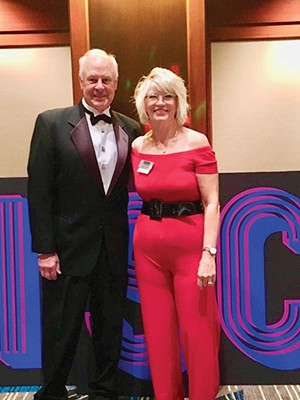 Susan Helm and her husband, Jim, at the 2019 Denim and Diamonds fundraiser for cancer research at SIU which Susan chaired. - PHOTO COURTESY OF SUSAN HELM