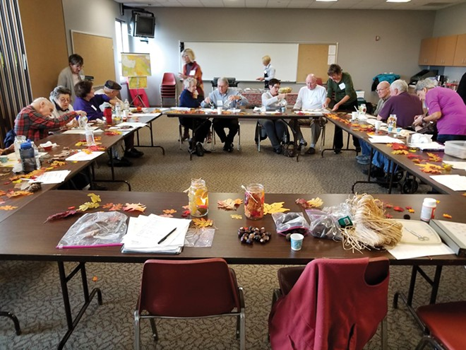 Minds in Motion fall program. Susan Helm led a bimonthly multisensory-themed themed program for people with dementia and their caregivers. She was inspired to help others with dementia after caring for her mother who had Alzheimer's. - PHOTO BY GREG KYROUAC