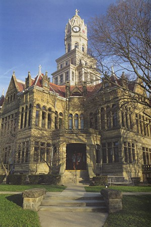 Edgar County Courthouse in Paris, Illinois.
