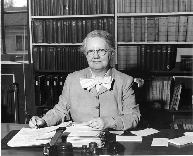 Margaret Cross Norton in 1957, the year she retired after 35 years as state archivist. - PHOTO COURTESY ILLINOIS STATE ARCHIVES