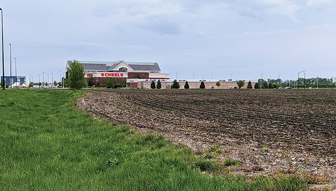 The city of Springfield is considering a tax hike to build a youth sports complex on vacant land near Scheels. - PHOTO BY BRUCE RUSHTON