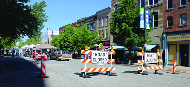 Mayor Jim Langfelder has changed plans to convert a portion of Adams Street into a pedestrian plaza during weekends, deciding that the street should remain open to vehicular traffic. - PHOTO CREDIT: STACIE LEWIS