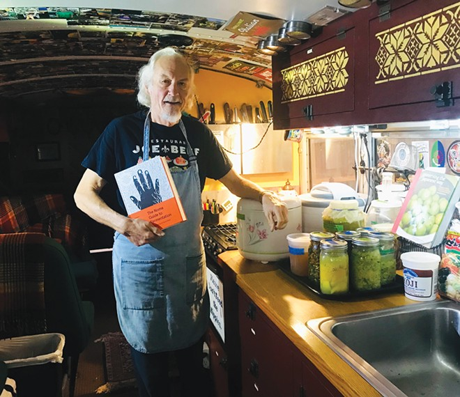 The author's home fermentation projects