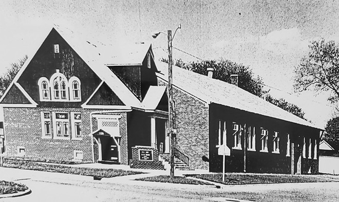 An undated photograph of the St. Paul African Methodist Episcopal Church of Springfield, which organized in 1843. - PHOTO CREDIT: COURTESY OFSPRINGFIELD AND CENTRAL ILLINOIS AFRICAN AMERICAN HISTORY MUSEUM