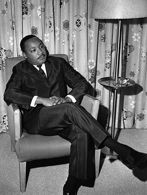 Martin Luther King Jr. in Springfield Oct. 7, 1965. He came to speak at the state convention of the AFL-CIO at the Illinois State Armory building, Second and Monroe, and stayed at the Leland Hotel, Sixth and Capitol. - COURTESY SANGAMON VALLEY COLLECTION, LINCOLN LIBRARY