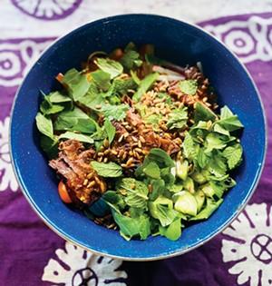 Vietnamese-influenced Beef Noodle Salad. - PHOTO BY ANN SHAFFER GLATZ