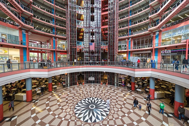 The State of Illinois has put the James R. Thompson Center, designed by noted architect Helmut Jahn, up for sale and is already relocating employees. The longtime center for state government in Chicago opened in 1985 and has fallen into disrepair. - CREDIT: KENNETH C. ZIRKEL