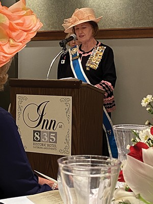 Chaplain General Pamela Peterson Bork serves as chaplain for the entire DAR organization and is also an honorary State Regent.