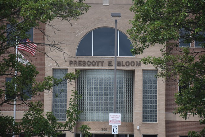 The Prescott Bloom Building at 201 S. Grand Avenue East, leased for $12.1 million over five years, is home to the Department of Healthcare and Family Services. - PHOTO BY DAVID BLANCHETTE