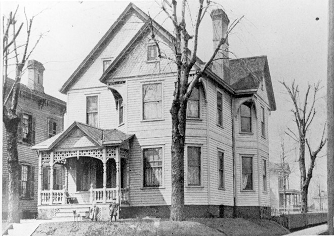 The house at 801 S. Fourth St. was the home of Mathias Bartel, 1902-1910, who owned a boot store downtown, and his five children often visited Susan Lawrence Dana. - CREDIT: SANGAMON VALLEY COLLECTION | LINCOLN LIBRARY