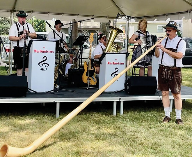 This Saturday, Die Musikmeisters, along with two other authentic German bands, play an Oktoberfest at the Knights of Columbus Hall on Meadowbrook Road.
