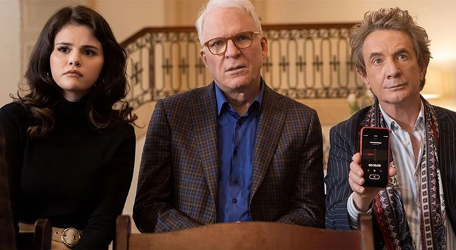 Selena Gomez, Steve Martin and Martin Short in Only Murders in The Building