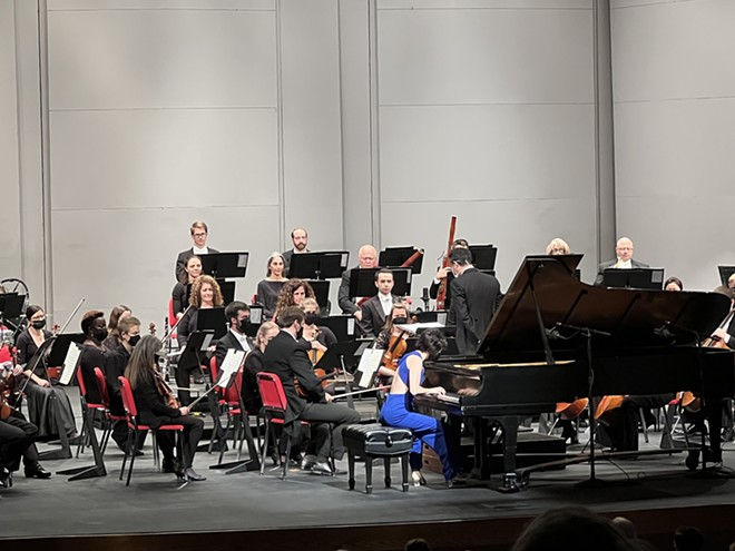 ISO joined by guest soloist, pianist Claire Huangci. - PHOTO COURTESY OF ILLINOIS SYMPHONY ORCHESTRA