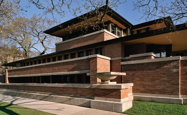 Frank Lloyd Wright's Prairie style achieved perfection with the Frederick C. Robie House.