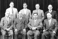 Members of the Order of the American Hellenic Educational Progressive Association, all Greek immigrants, held their 1942 convention at Springfield's Abraham Lincoln Hotel.