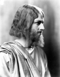 Larry Kramp portrays Jesus in St. Aloysius Church's 1935 Passion play. Kramp, now 91, says he was young and innocent back then.