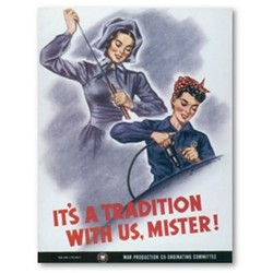WWII took women out of the home and into the work and war forces.