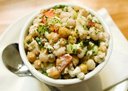 Dean Hare | Inland360This Bean Salad from Birch and Barley restaurant in Pullman is one of the dishes regional chefs have created featuring the Palouse grown Pedrosillano Garbanzo bean. - DEAN HARE