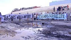People protest tar sands strip mining in Utah in 2013. - PHOTO STEVE LIPTAY
