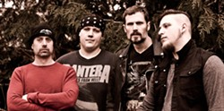 From left to right: Brett Gile (drummer), Dave Delva (bass guitarist), Kevin Black (lead vocals) and Alex Black (lead guitarist).