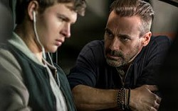 """Ansel Elgort (left) and Jon Hamm are shown in a scene from the film """"Baby Driver."""""""