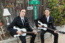 Dylan Zmed (left) and Zach Zmed portray Phil and Don in the Everly Brothers Experience. - ©BRENDAN HOLMES