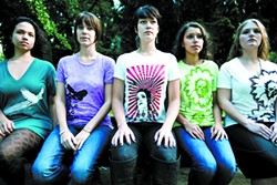 Portland, Ore., artist Kevin Darras' original designs are featured on screen-printed T-shirts.