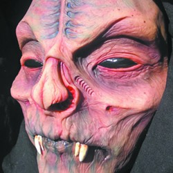A mask by Jon Rode of Clarkston.
