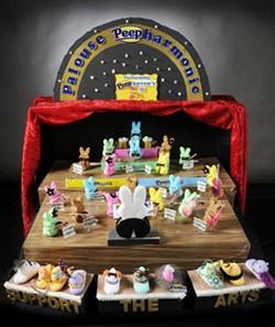 "Palouse residents Inga Kingsley, Amy Browse and Diane Worthey won the 2015 360 Peeps Diorama contest with their entry, ""Palouse Peepharmonic."" - TRIBUNE/KYLE MILLS"