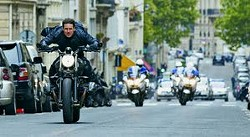 """Tom Cruise is shown in """"Mission: Impossible — Fallout."""""""