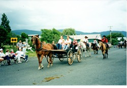 An archived image of the Elk City Wagon Road Days parade.