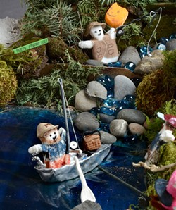 The 2017 winning Peeps contest submission by Jeanne Poxleitner and Kris Klaveano included this piece of a larger diorama featuring Peeps enjoying a variety of outdoor recreation. - TRIBUNE/BARRY KOUGH