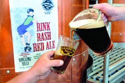 Paradise Creek Brewery new micro-brew Rink Rash Red has been made for a fund raiser for the Rolling Hills Derby Dames. - TRIBUNE/KYLE MILLS