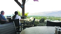 Diners take in the view of the Lewiston-Clarkston Valley from the Ernie's patio.
