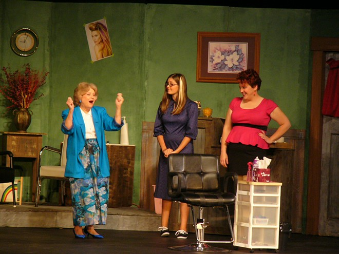 """Moscow Community Theatre's 2014 production of """"Steel Magnolias"""" featuring actresses Troy Sprenke, Alexi Brown, Aubree Flanery"""
