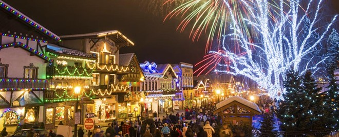 Leavenworth, a Bavarian-themed village in Washington State, lights up in the winter for visitors and festivals.