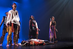 """Kaha:wi Dance Theatre's production of """"The Honouring"""" pays homage to First Nations warriors of the War of 1812. The troupe will take the stage Friday evening at Washington State University's Jones Theatre in Pullman. - - BY J. JENKINS"""