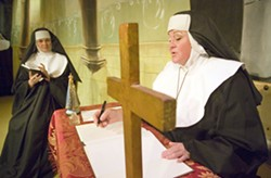 """Geoff Crimmins/Daily NewsDarcy Eliason as Mother Abbess, right, and Elena Panchenko as Sister Berthe talk in a scene from the Regional Theatre of the Palouse's production of """"The Sound of Music."""" - GEOFF CRIMMINS"""