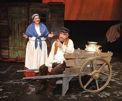 "Tevye and Golde are played by Joshua Vander Plaats and Nancy McIntosh in ""Fiddler on the Roof."" - PHOTO STEVE HANKS"