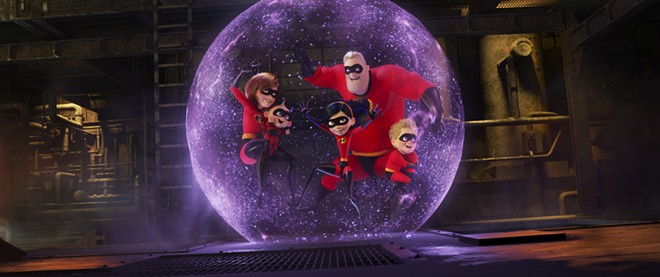 """This image released by Disney Pixar shows a scene from """"Incredibles 2."""" - DISNEY/PIXAR VIA AP"""