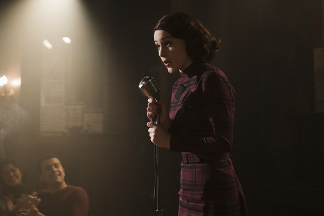 """""""The Marvelous Mrs. Maisel,"""" is about a New York City house wife who lands on the 1950s stand-up comedy circuit. Out this week from Amazaon Prime. - NICOLE RIVELLI"""
