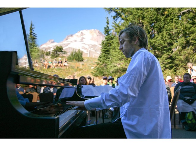 "Hunter Noack performs his ""In a Landscape: Classical Music in the Wild"" concerts at outdoor locations around Oregon and Washington. People can sit and listen or wander the parks wearing headphones. He'll perform this weekend at Chief Timothy Park outside Clarkston."