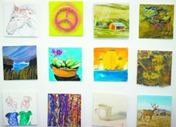 """A handful of the 900 works that will be on sale Friday, Dec. 6 in Moscow for """"30 30 30."""" - GEOFF CRIMMINS"""