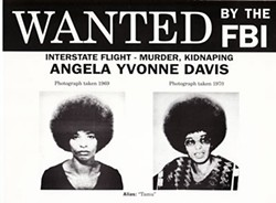 Davis was put on the FBI's Ten Most Wanted list in 1970.