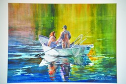"""""""Clearwater Afternoon"""" is the name of this painting by John Kirkland."""