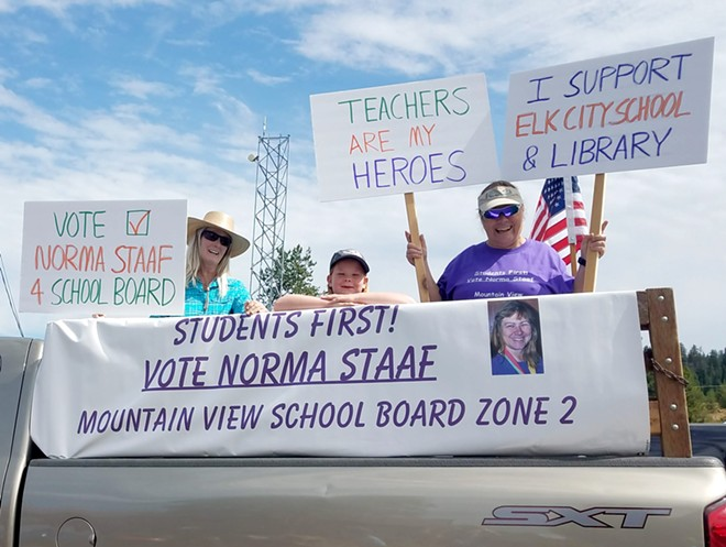 Norma Staaf is shown at the 2019 Elk City parade during her campaign in this courtesy photo. - COURTESY