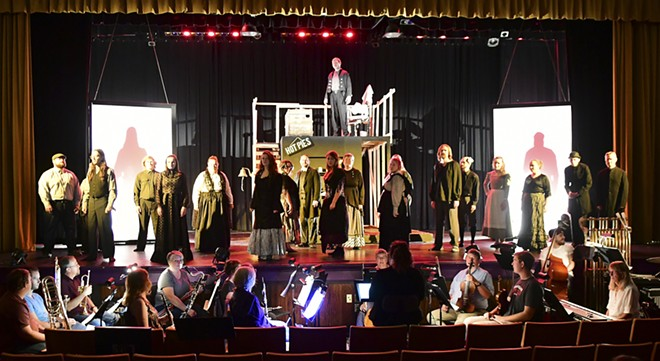 """The Lewiston Civic Theater cast of """"Sweeney Todd: A Musical Thriller,"""" opening Thursday. - PHOTO BY BARRY KOUGH"""