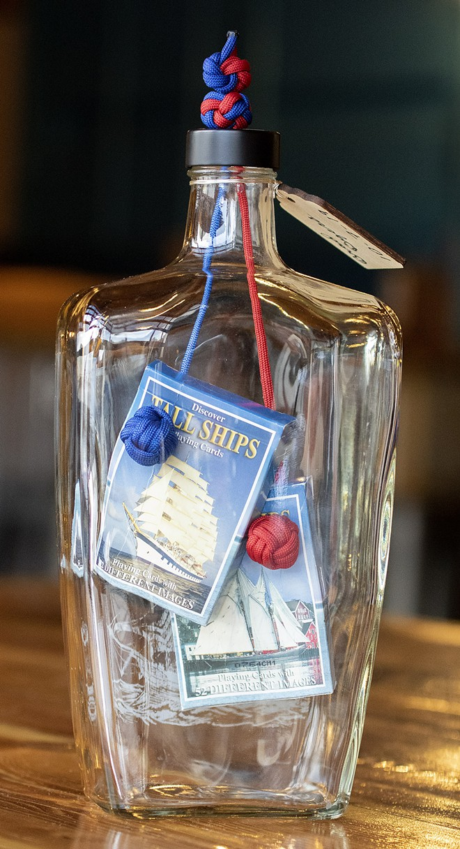 One of the impossible bottles created by Brad Byers contains two decks of cards. - GEOFF CRIMMINS/FOR INLAND 360