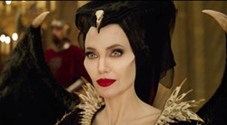 """This image released by Disney shows Angelina Jolie as Maleficent in a scene from """"Maleficent: Mistress of Evil."""" (Disney via AP) - DISNEY VIA AP"""