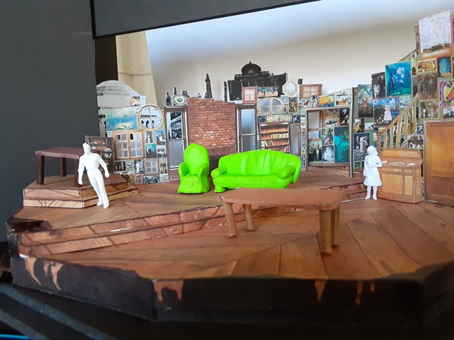 """A model for the set of UI's production of """"You Can't Take it With You"""" created by Megon Inmon."""